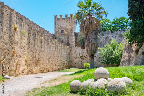 Poster Fortifications of Rhodes. Greece