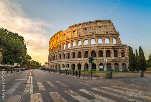 Sunrise at Colosseum , Rome , Italy