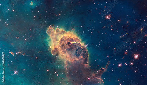 Jet in Carina Nebula. Composed of gas and dust.