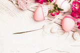 Fototapety Easter decorations with flowers