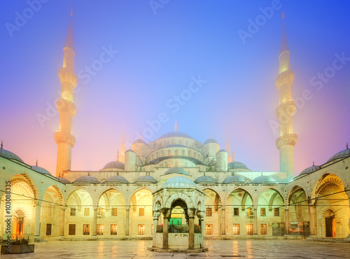 Poster, Tablou The Suleymaniye Mosque in Istanbul, Turkey