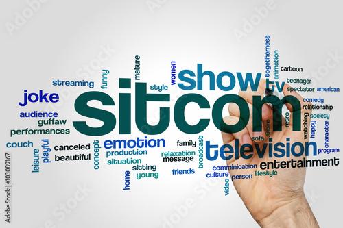 Plagát Sitcom word cloud