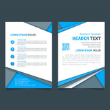 Fototapety Creative brochure vector template. Modern poster, flyer business template in a material design style. Vector illustration