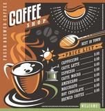 Fototapety Coffee house menu creative template