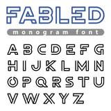 Logo Font vector alphabet design linear ABC outline typeface