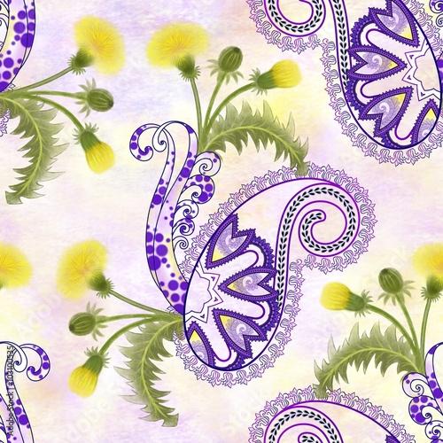 bezszwowy-wzor-z-purpurowym-paisley-zolci-dandelion-kwiaty