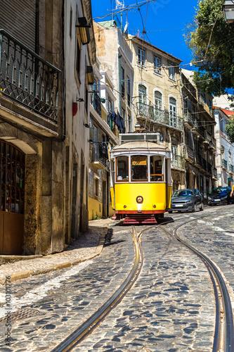 Panel Szklany Lisbon tram