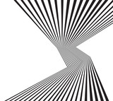 Fototapety black and white mobious wave stripe optical abstract design