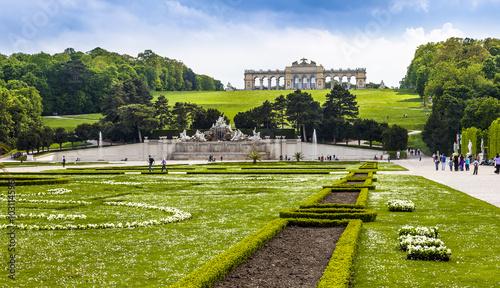 Foto op Canvas Wenen Wien Schloss Schönbrunn Gloriette