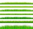 Green grass borders set