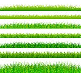 Green grass borders set