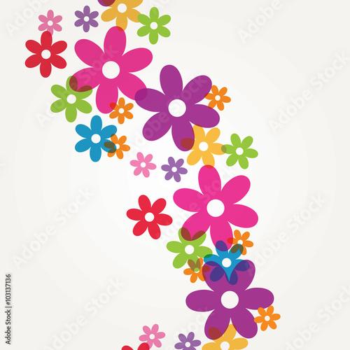 Naklejka Floral design for card and invitations.