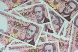 old polish money background