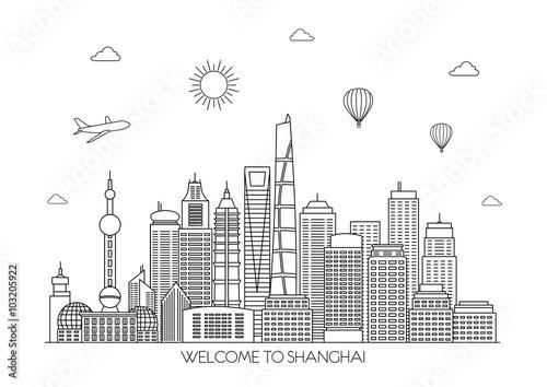 Poster Shanghai skyline