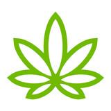 Fototapety Marijuana Pot Weed Leaf Symbol