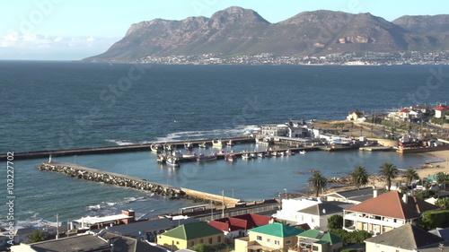 Tuinposter Algerije Panning shot of Kalk Bay harbour, Cape Town,South Africa
