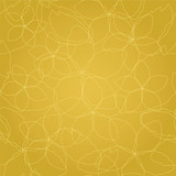 Seamless floral golden lines wallpaper. This image is a vector illustration.