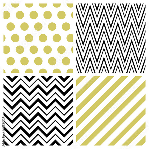 Set of geometric seamless patterns © Jiaart