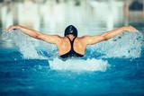 Butterfly stroke swimming style
