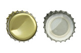 Metal bottle cap isolated on white background