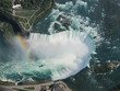 Aerial View of Niagara Falls with a beautiful rainbow