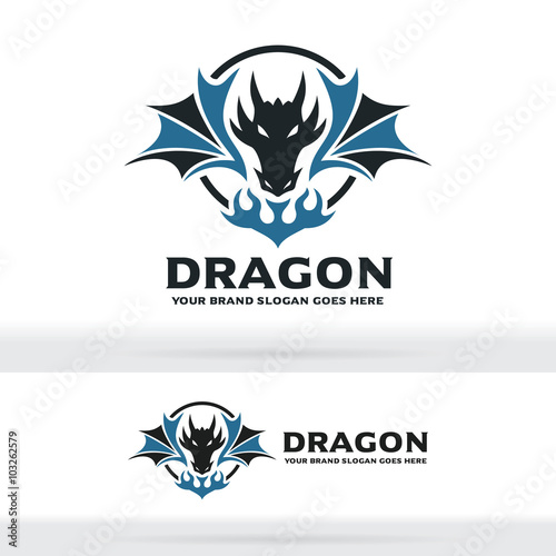Dragon Logo, Dragon Sign, Dragon Identity