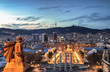 Barcelona at the blue hour, Spain
