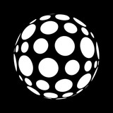 Abstract polka dots in sphere form