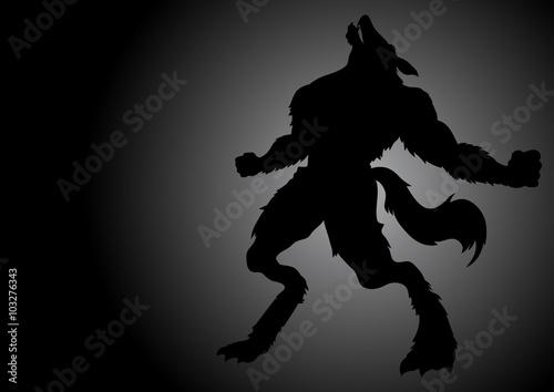 Howling Werewolf In The Dark