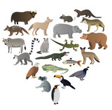 Vector image of wild animals