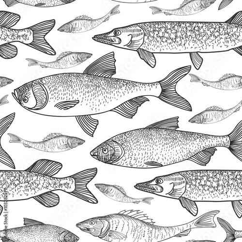 bezszwowe-tlo-ryb-szkic-podwodny-wzor-zycia-morskiego-szkic-plywacki