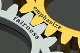 fairness and emphasize concept on the gear