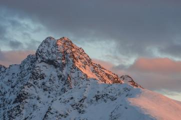 panorama w zimie w Tatrach Wysokich - Świnica szczyt