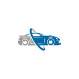 Car logo template, sports car
