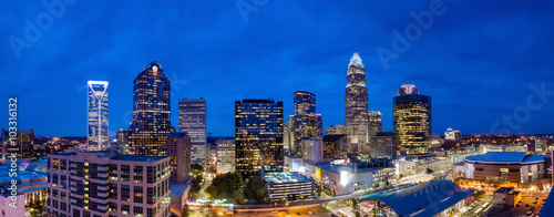 Foto op Canvas Texas Skyline of downtown Charlotte in north carolina