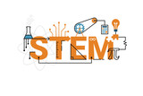 STEM word typography design - 103316792