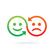 Sharing emotions concept. Vector icon.