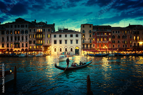 Poszter Grand Canal in sunset time, Venice, Italy