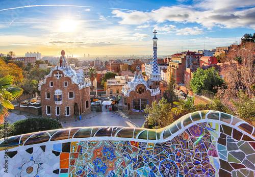 Poster Barcelona Barcelona - Park Guell, Spain