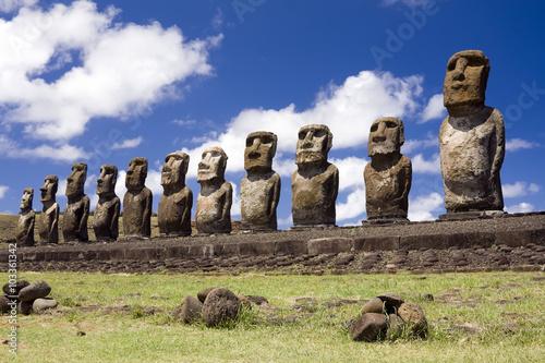 Poster Moais en Isla de Pascua - Tongariki