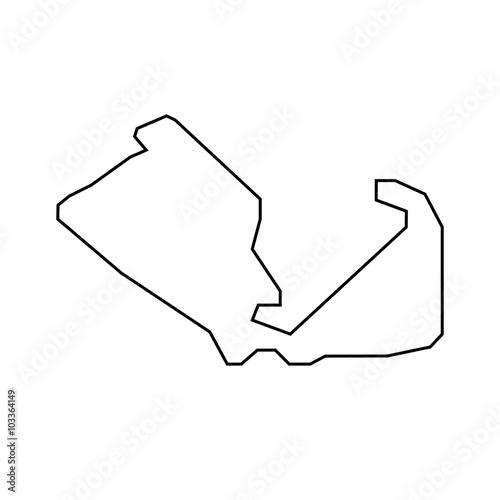 Foto op Plexiglas F1 Silverstone Circuit - Streckenverlauf