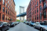 Fototapety Manhattan Bridge from Washington Street, Brooklyn