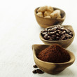Wooden Bowls with coffee