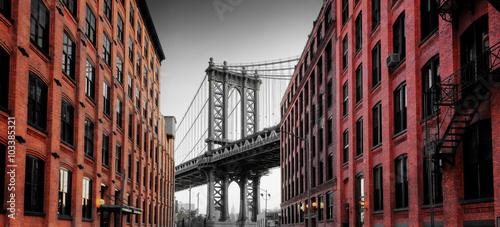 Obraz na Plexi Manhattan Bridge from Washington Street, Brooklyn