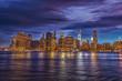 Panorama of Manhattan at the sunset