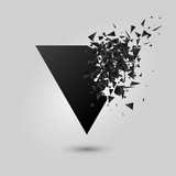 Abstract black explosion. Geometric background. Vector illustration