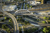 Fototapety Aerial view of road system in Rio de Janeiro, Brazil