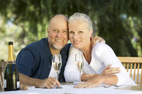 A senior couple celebrating Poster