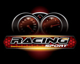 RACING SPORT CONCEPT for LOGO DESIGN VECTOR
