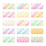 Marshmallow twists set vector illustration. - 103428519